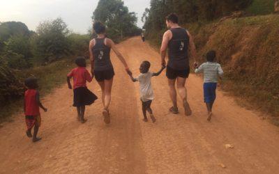 Couple raise over £3,000 in Uganda's race like no other.