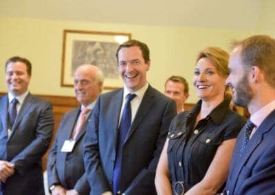 George-Osborne-Sarah-Parish-Laughing