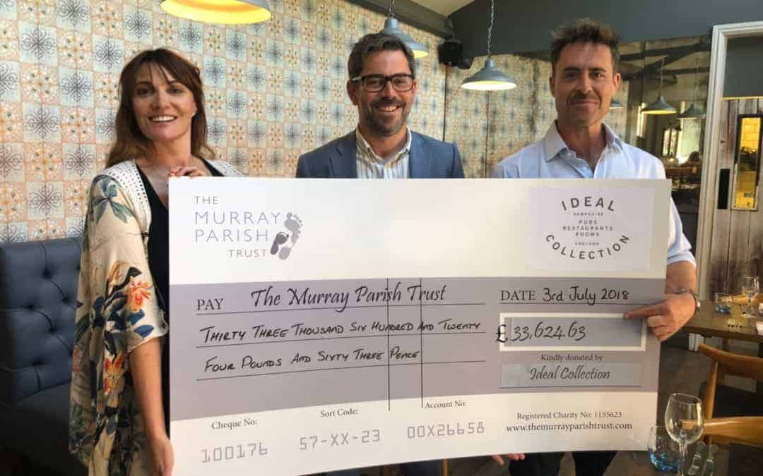 Ideal fundraising reaches £34,000 for The Murray Parish Trust!