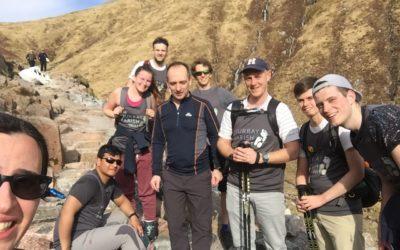 HWB team climbs UK's highest peaks and raises £4,000 for #2MillionSteps!