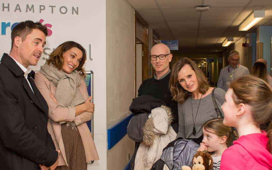 Sarah Parish & James Murray visit Southampton Children's Hospital