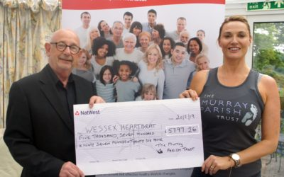 The Murray Parish Trust raised over £5,000 for Wessex Heartbeat 3D Heart Appeal