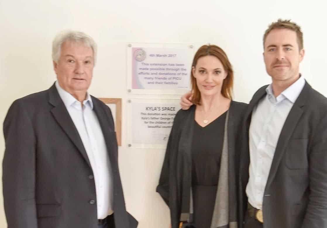 Tim Jobling with Sarah Parish & James Murray at the opening of Southampton PICU Extension 2017