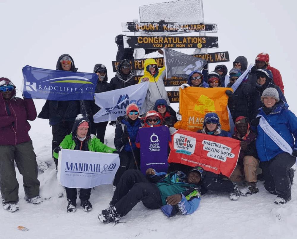 Team GC on Mt Killimanjaro Summit 17 Oct 2019