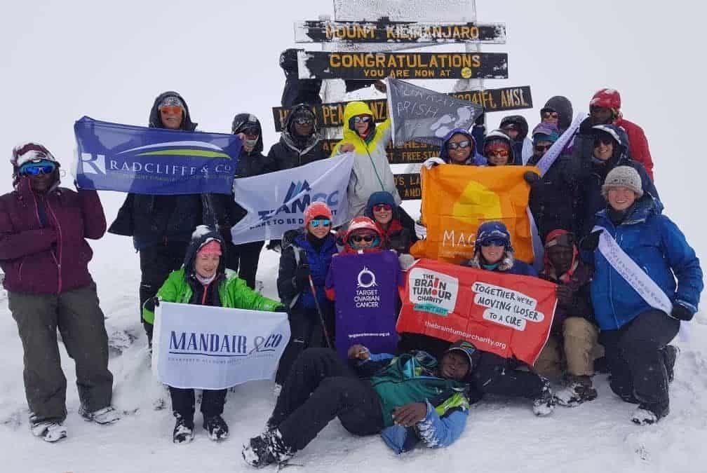 Team GC reach Africa's highest peak in snowstorm!